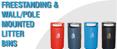 Freestanding & Wall/Pole Mounted Litter Bins